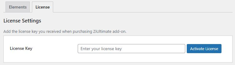 Activate the license key