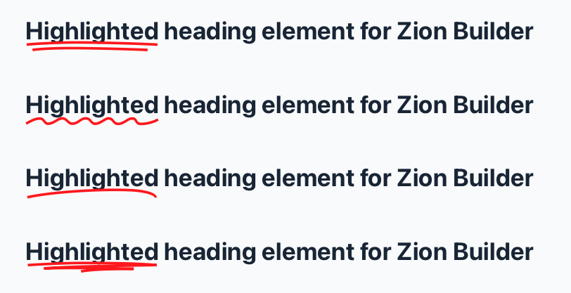 Preview of Highlighted Heading element